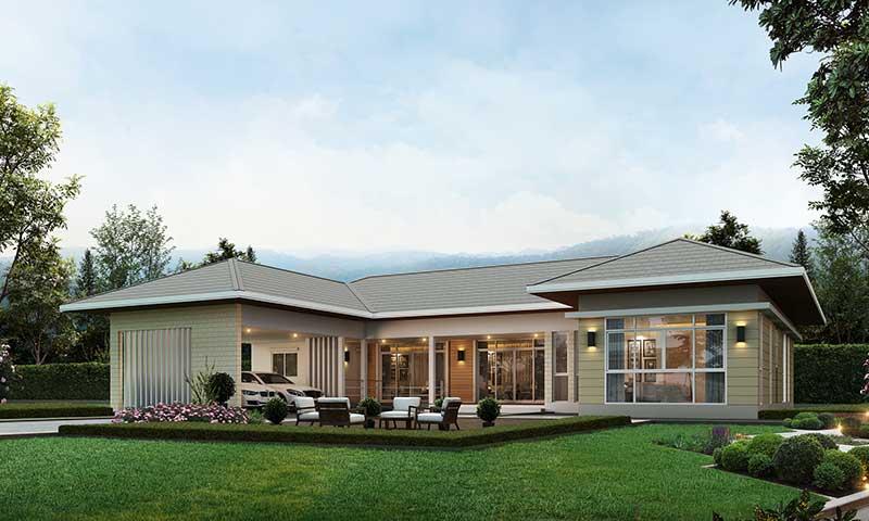 สร้างบ้าน Modern แบบง่ายๆ ใช้งบไม่กี่แสน